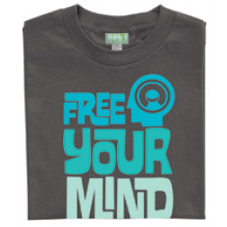 101 apparel Free your mind charcoal